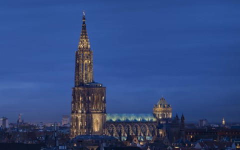 Strasbourg Cathedral Switches on New Lighting by Lumenpulse