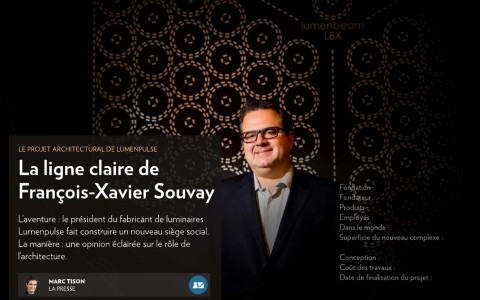 Francois-Xavier Souvay featured in La Presse column
