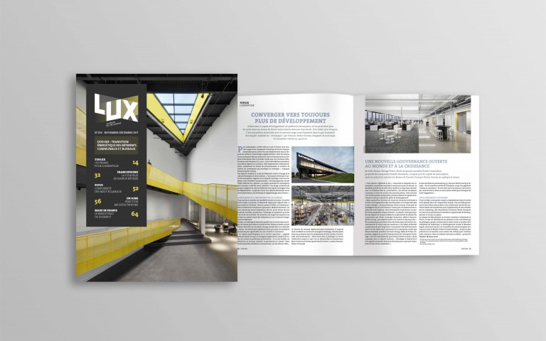 New Lumenpulse Headquarters Make the Cover of France's Lux Magazine