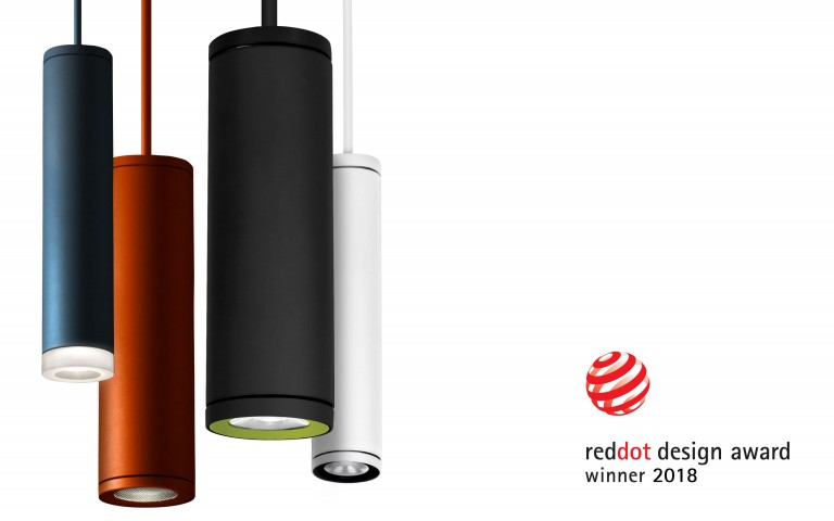 Lumenpulse Cylinders - 2018 Red Dot Design Award