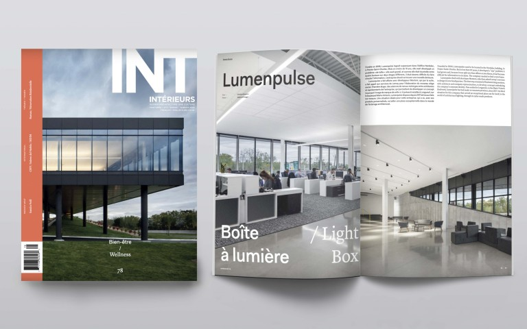 Lumenpulse Headquarters Makes the Cover of INTÉRIEURS
