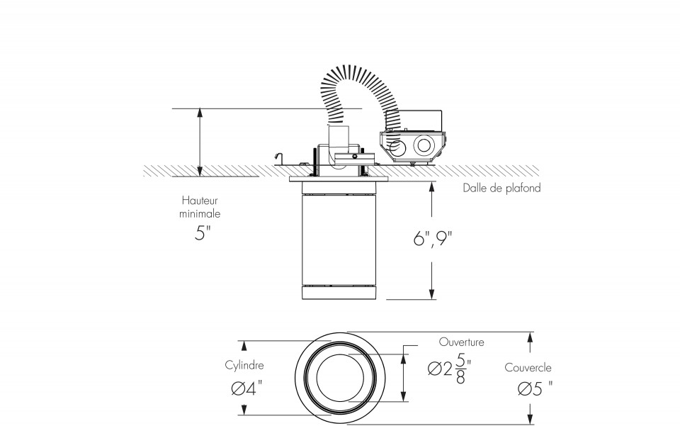 Short Cylinder Small Surface Mount Remote