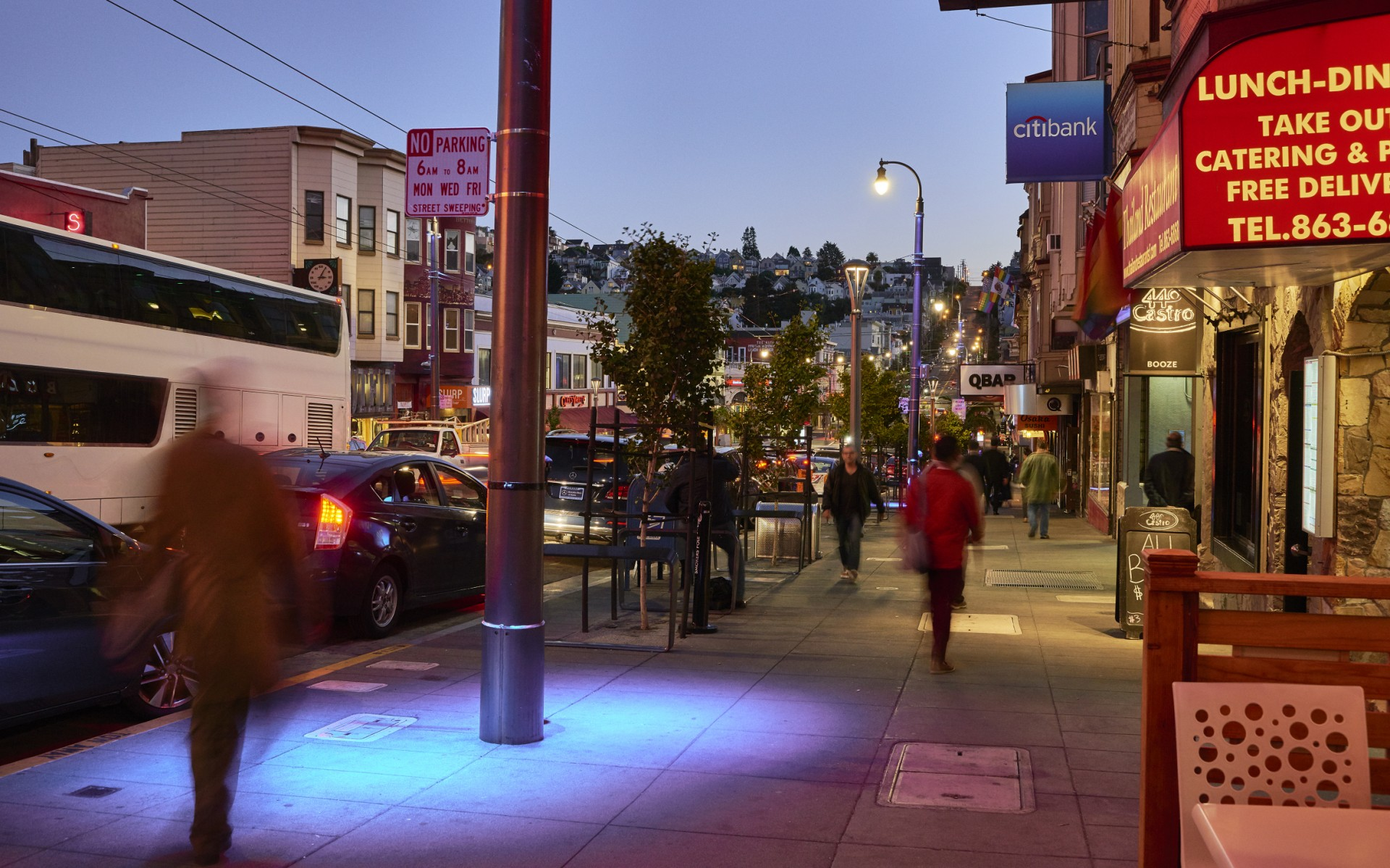 Lighting Systems Inc. worked with the San Francisco Public Utilities Commission to design a new color changing lighting system for the Castro Street Business District.