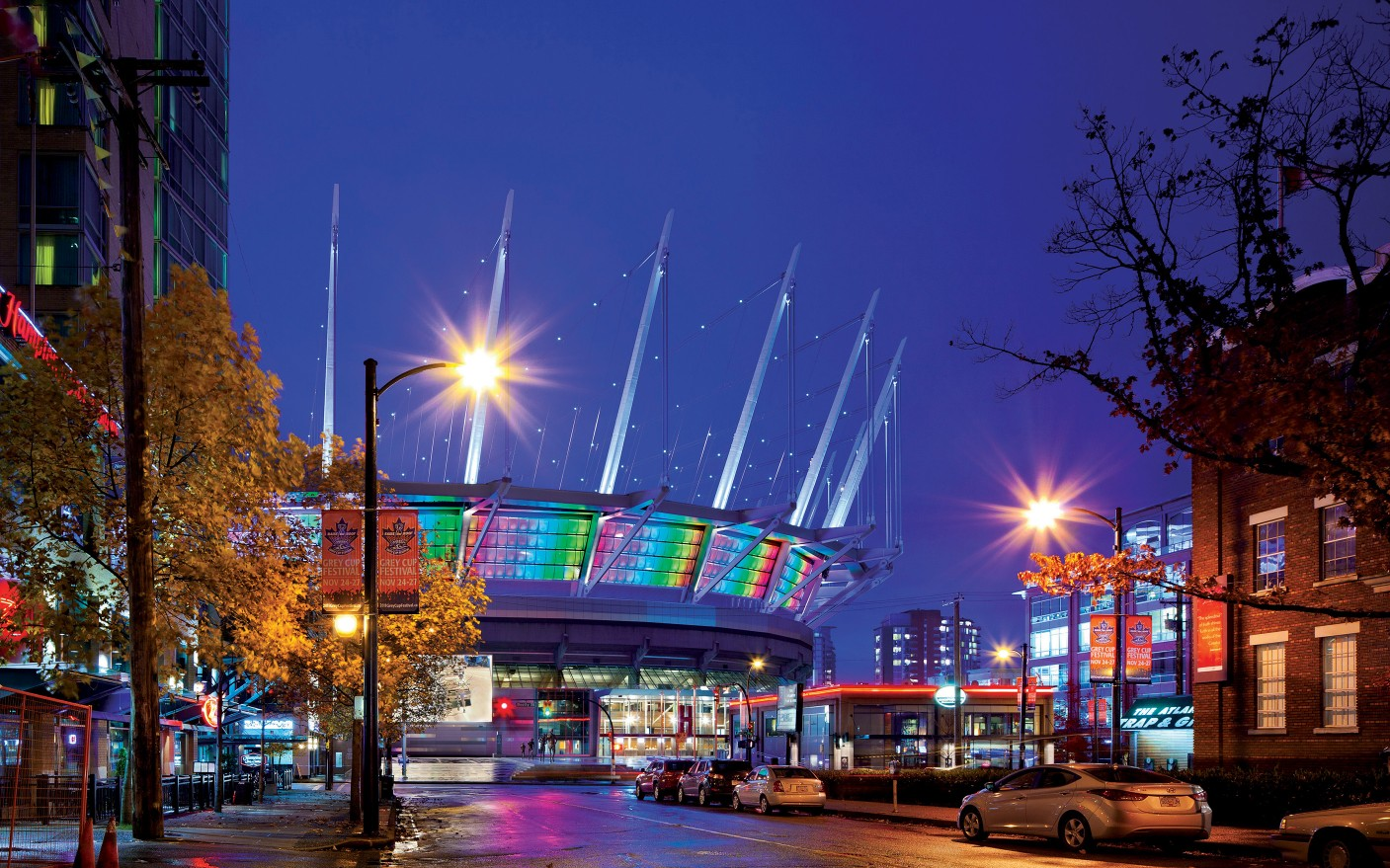 Lighting designer CM Kling+Associates has helped reinvent Vancouver's much-loved BC Place Stadium giving it a colorful and dynamic new presence on the city's skyline. – Photography by Ed White