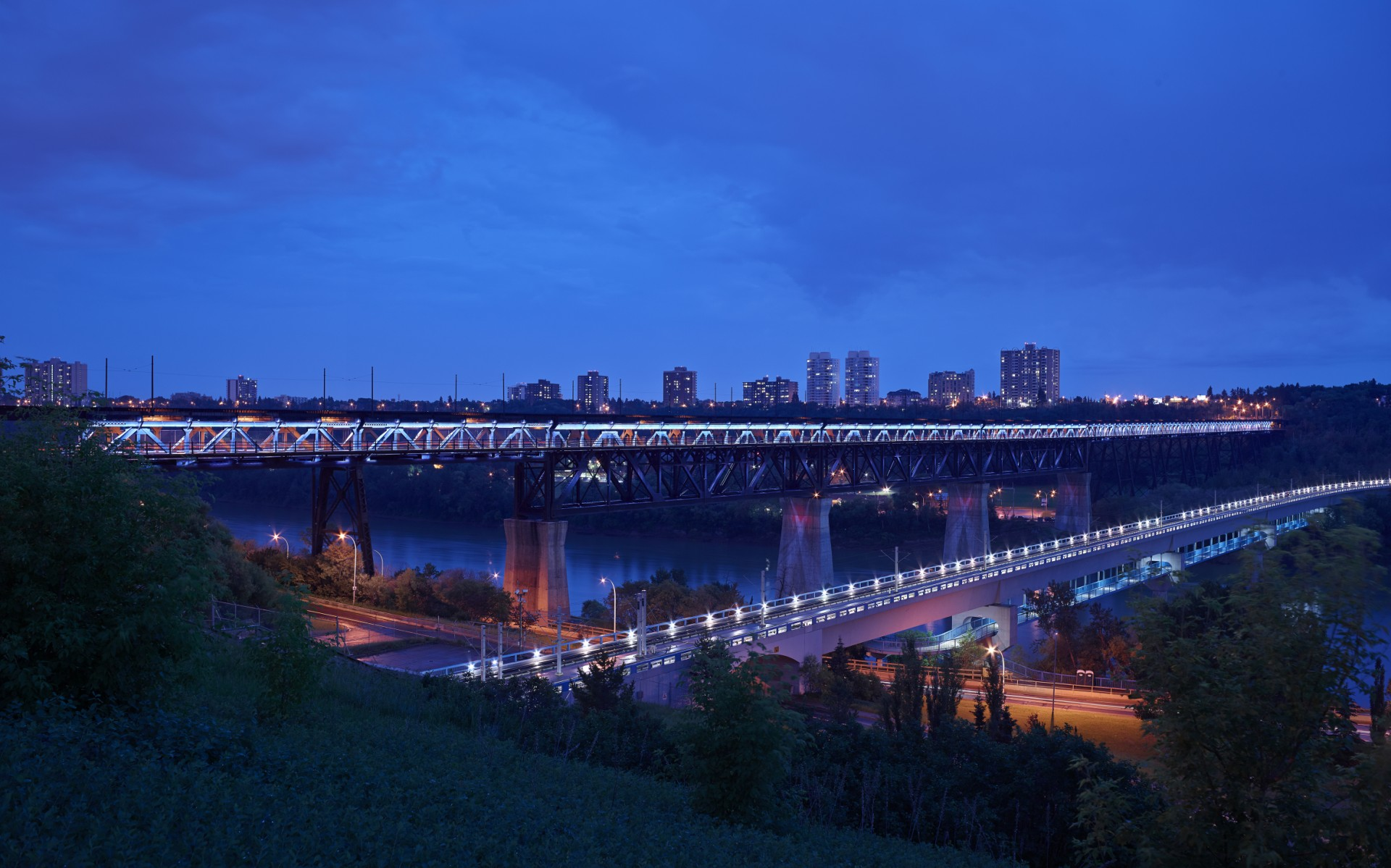 "The new lighting system is the result of the ""Light the Bridge"" fundraising campaign, which generated widespread media coverage and thousands of donations."