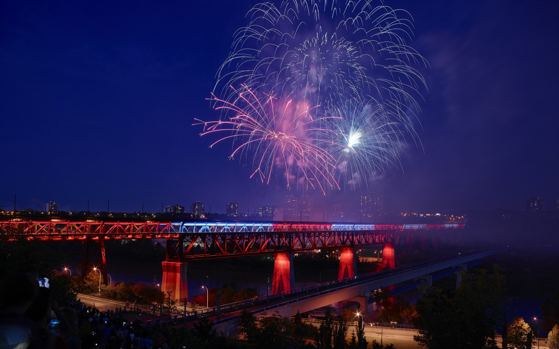 Including the Canada Day unveiling of the newly lit High Level Bridge.