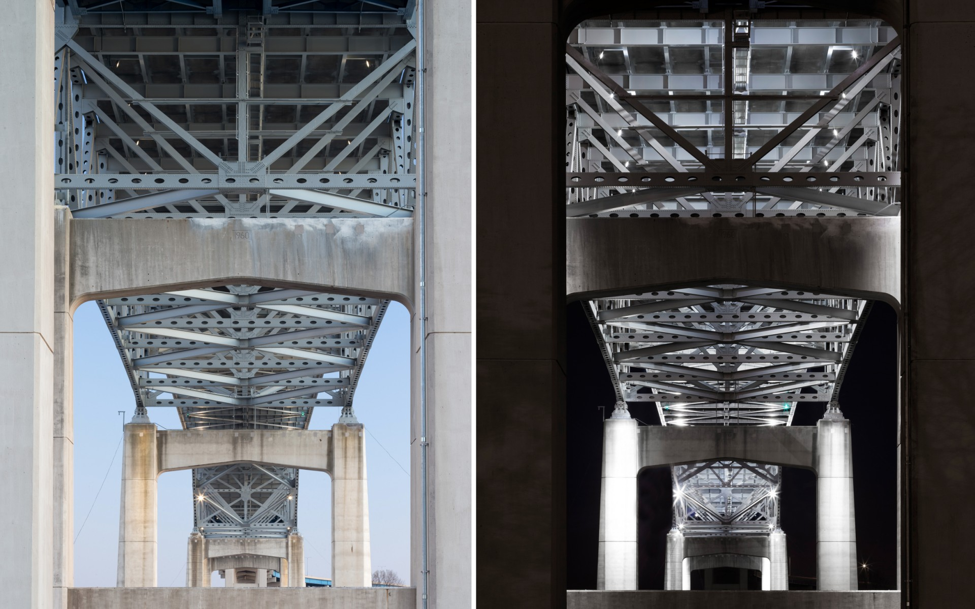 Short Elliott Hendrickson, Inc. (SEH) carefully determined the aiming angles of the luminaires to highlight the structural architecture of the bridge.