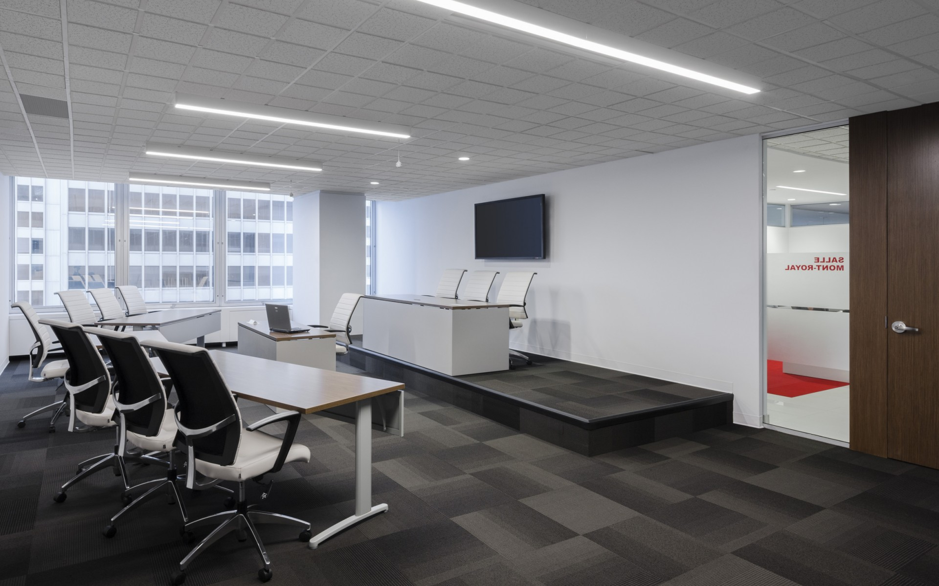Lumenline Surface luminaires were used for general lighting in the office's conference rooms.
