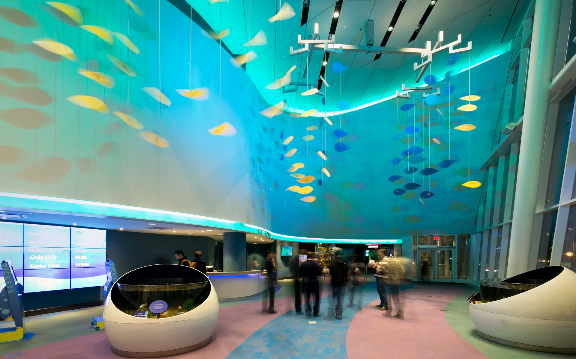 For Ripley's Aquarium of Canada, designers Mulvey+Banani broke from aquarium tradition, using an LED lighting system to avoid typical maintenance and operational issues.