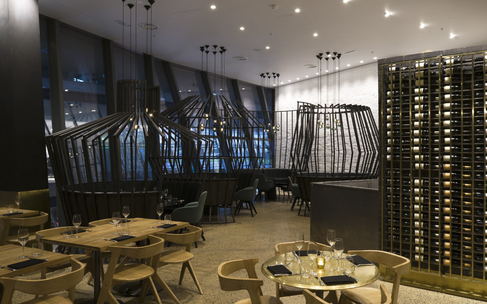 The design – still going strong five years on – allowed Barbecoa to meet energy load limits and offer diners a warm, inviting atmosphere.