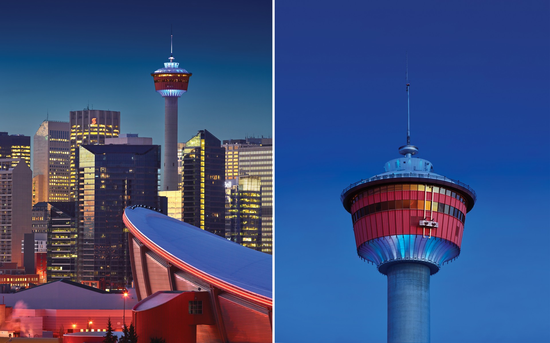 Local lighting designers Optics Lighting used Lumenbeam luminaires to bring the Calgary Tower back into the spotlight.