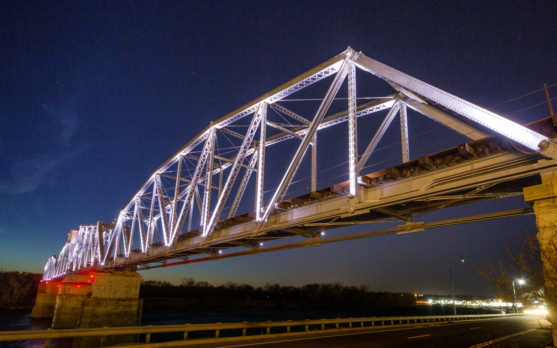 Originally constructed in 1890, the RJ Corman Railroad Bridge is an iconic railroad bridge that spans the Cumberland River in downtown Clarksville, Tennessee.
