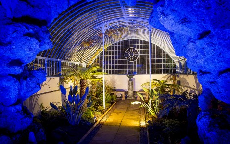 The installation sought to put a modern twist on the garden's original features, including a grotto and fernery.