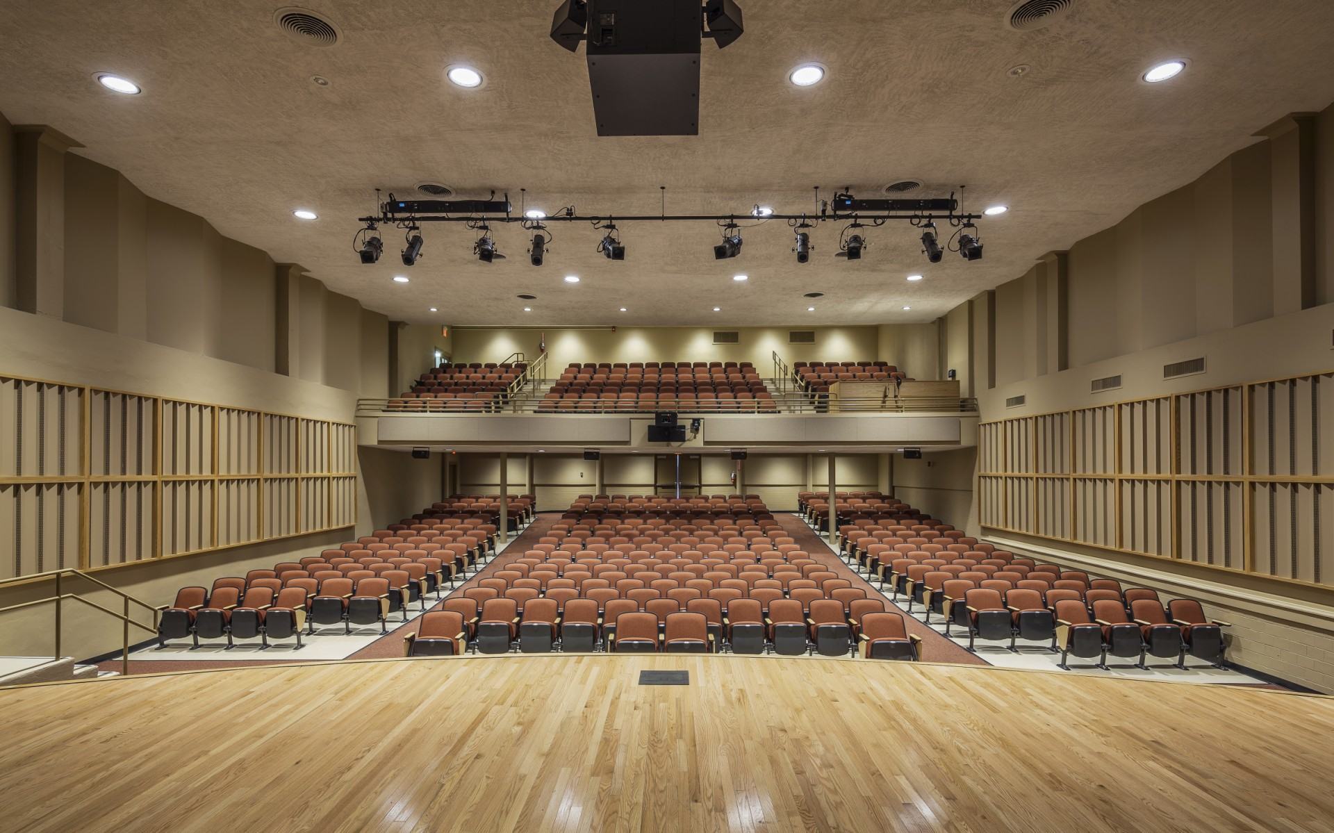 The Newport High School Auditorium is a busy, multipurpose space.