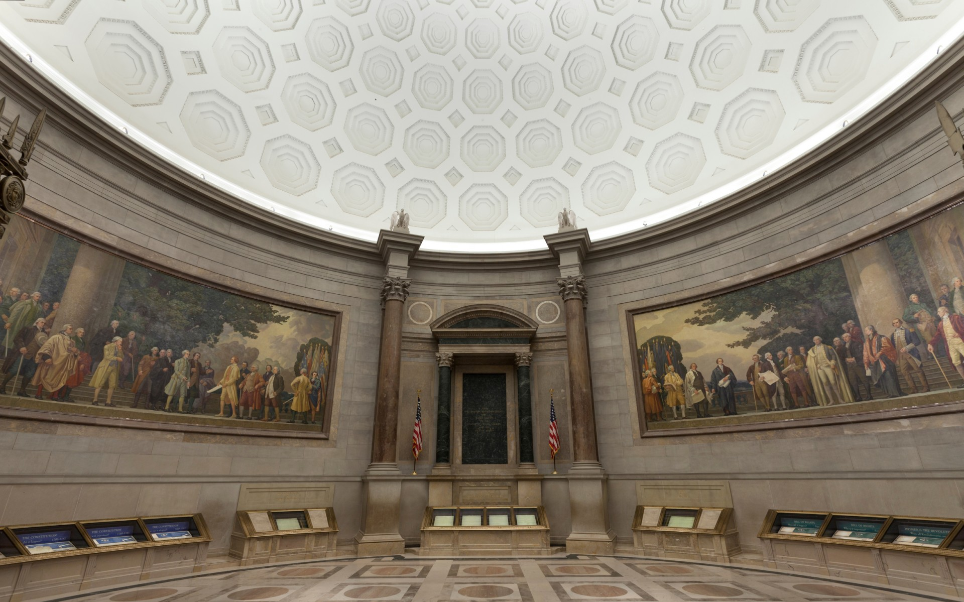 The Rotunda for the Charters of Freedom is home to the Constitution, Bill of Rights and Declaration of Independence.