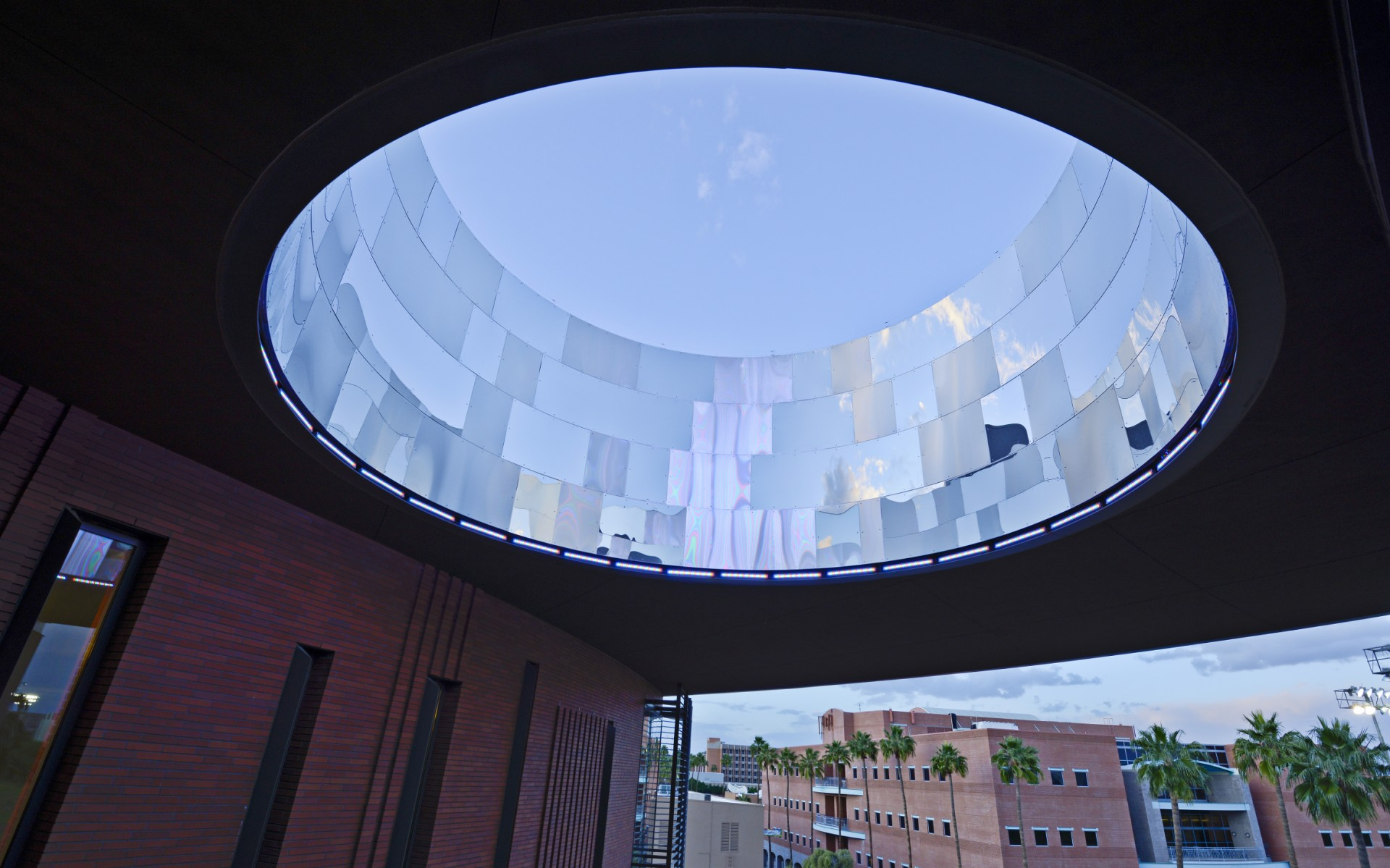 After an extensive search, Lam Partners selected Lumenfacade Color Changing luminaires.