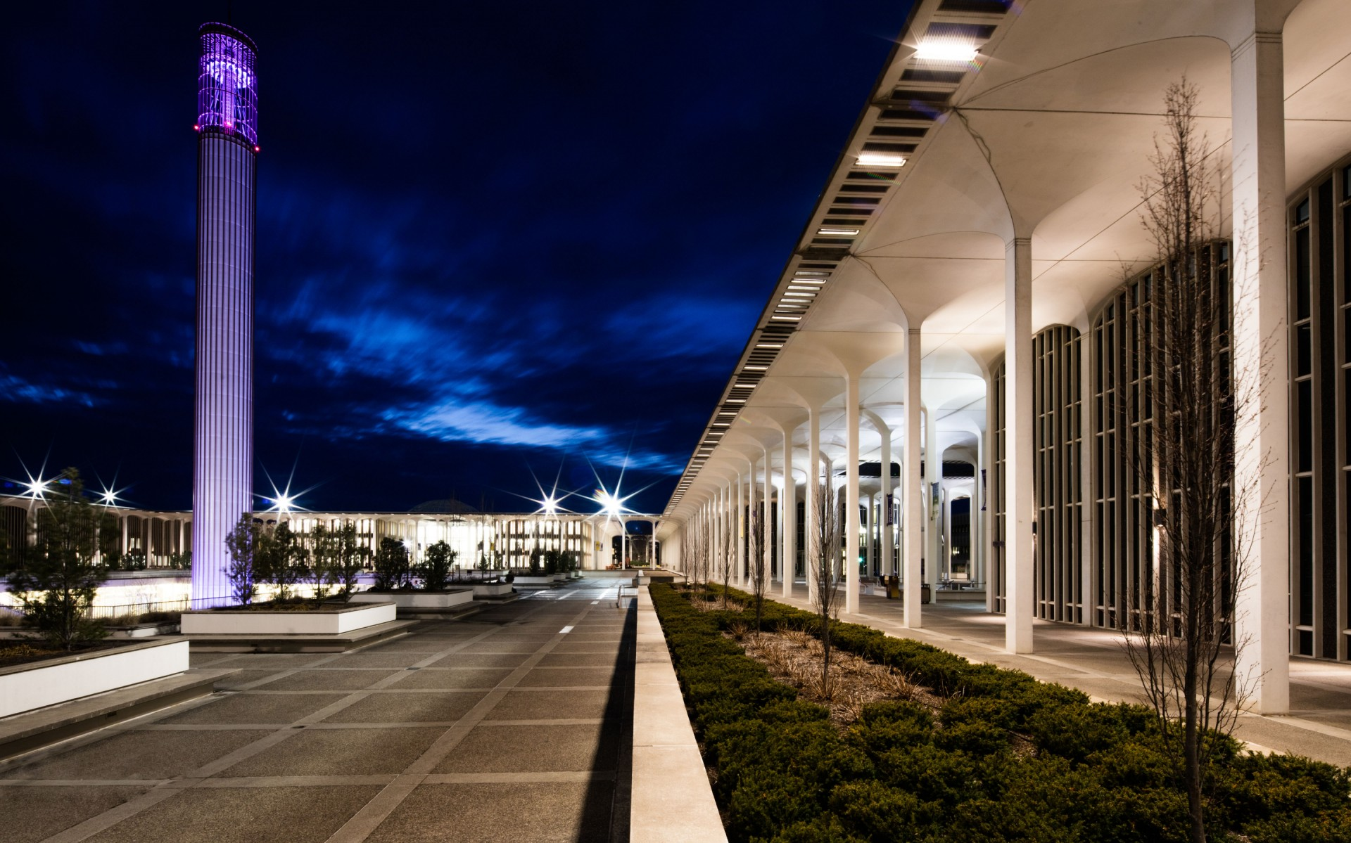 The firm chose Lumenfacade luminaires using a wide beam distribution.