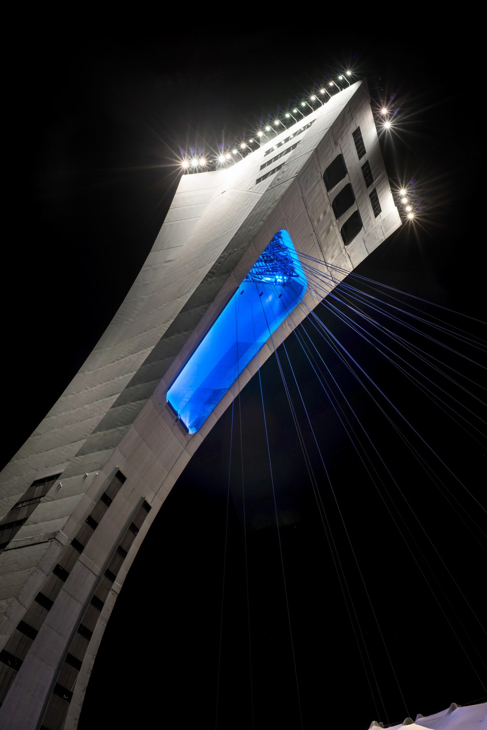 The lighting plan involves multiple stages that would include modern lighting of the tower's central open archway.