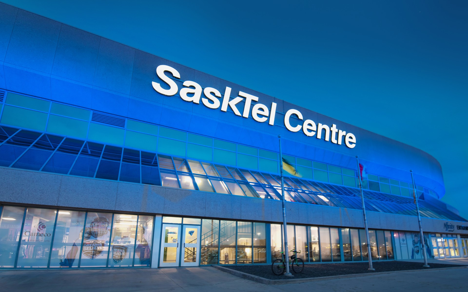 The SaskTel Centre in Saskatoon, Saskatchewan, is a 15,000-seat arena hosting sports games, concerts and other events.