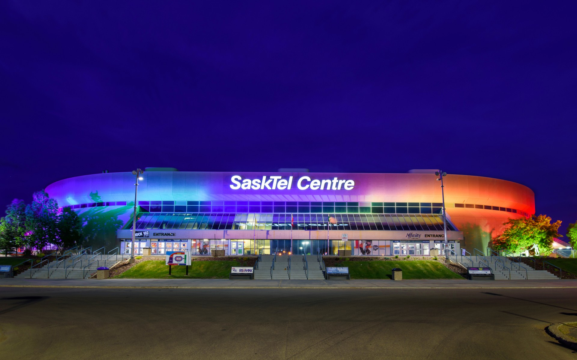 """We were always a focal point for the city and province, but the new light system took us to a new level,'' says John Howden, Director of Business Development at SaskTel Centre."
