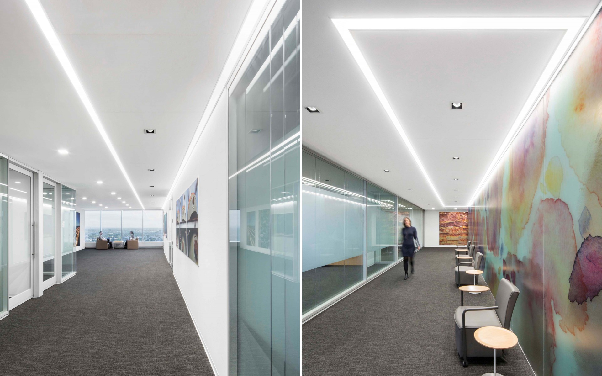 Their lighting concept was a minimalistic, modern and clean approach to warmth that would create an open-space environment that was welcoming and inspiring for those working there.  – Stéphane Brugger