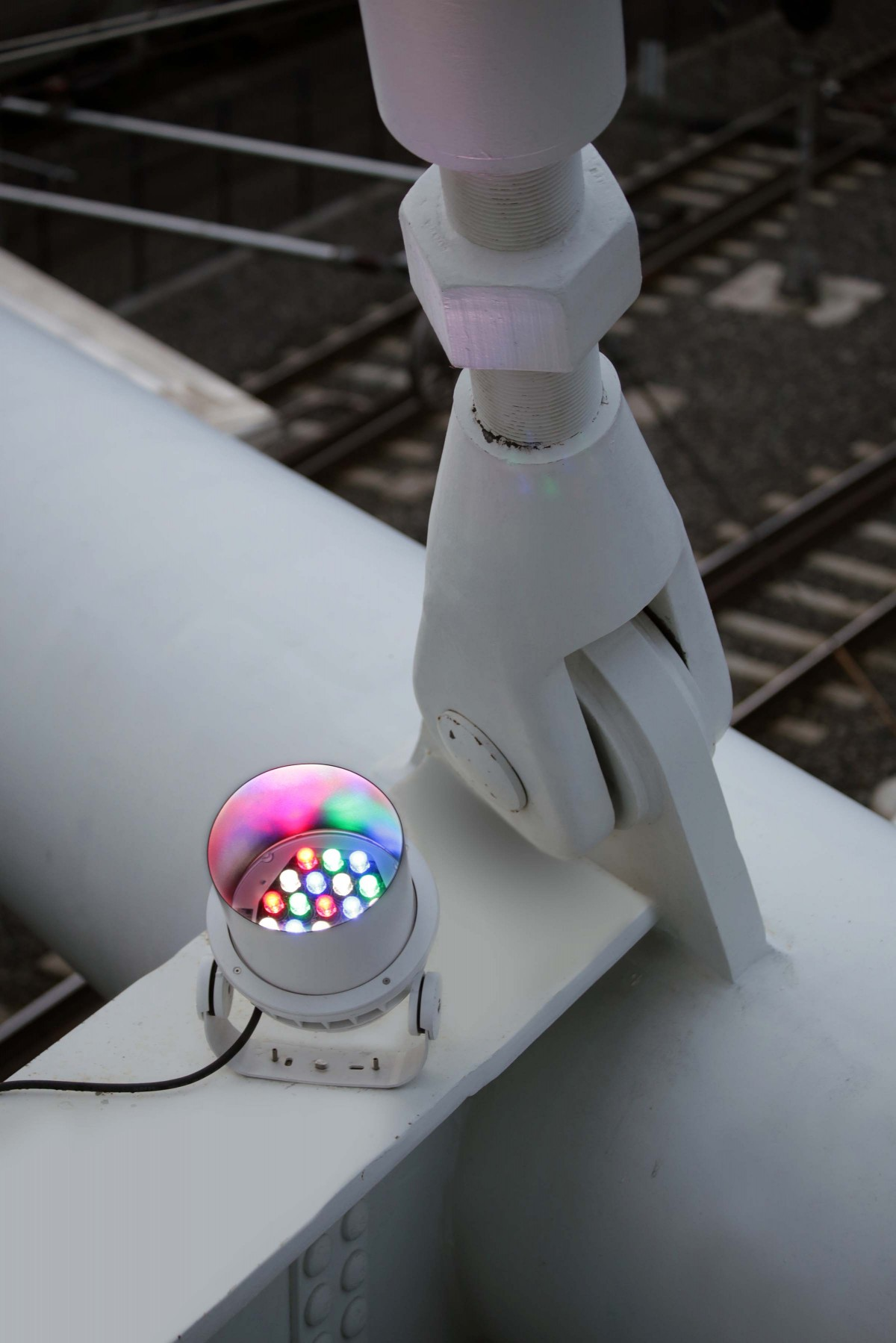 Lumenbeam luminaires create a wayfinding aid and heighten safety on the bridge. – Ryan Linton
