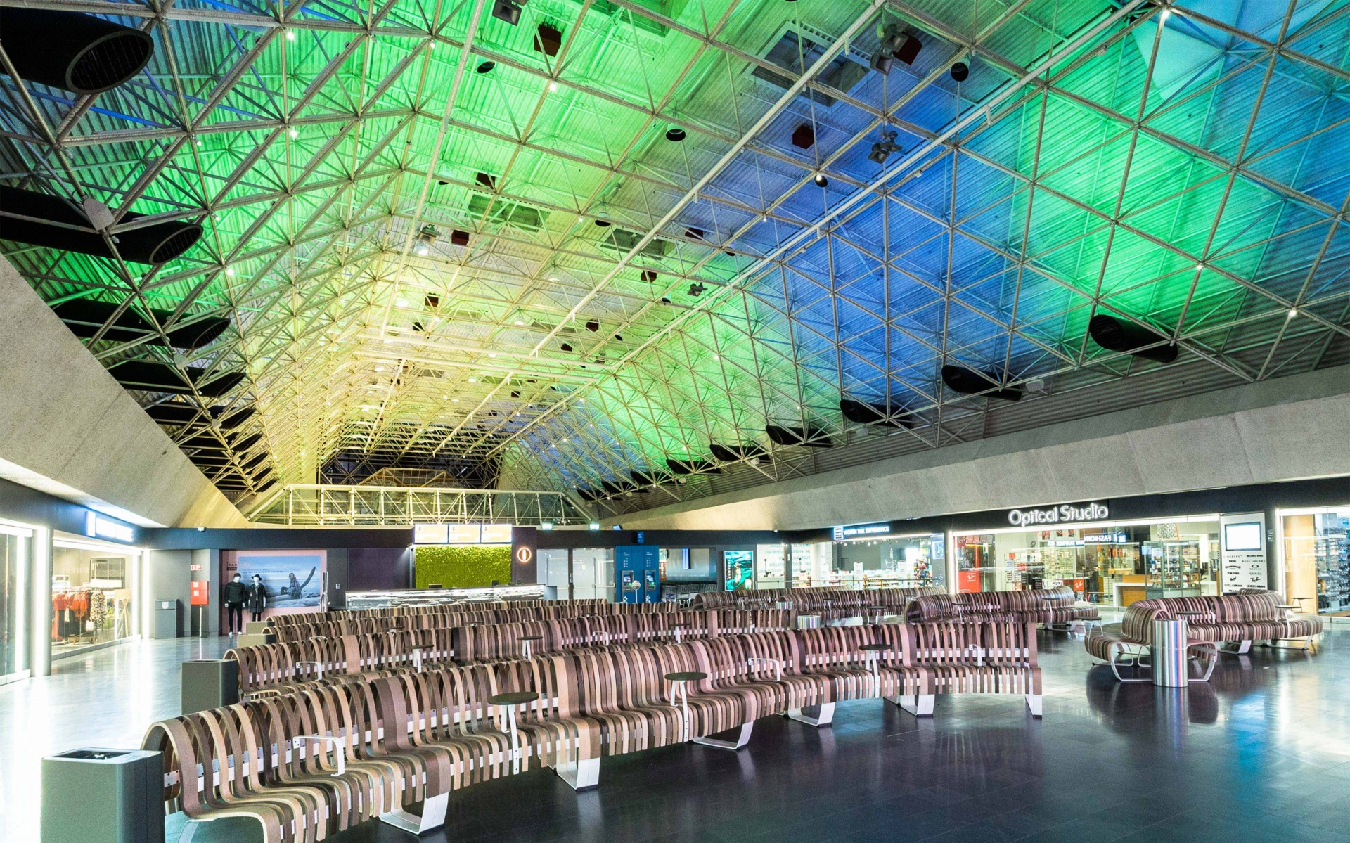 Keflavik Airport becomes a reflection of the country's natural environment.