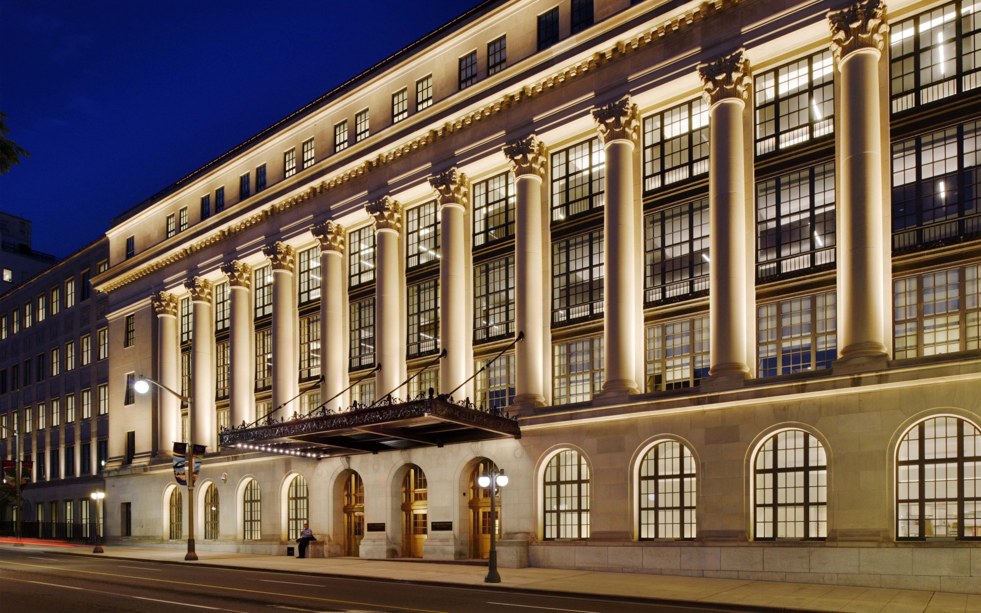 """""""We employed a theatrical approach to lighting with very detailed control systems to avoid flooding the building with light"""" states Francois Roupinian. – Gordon King"""