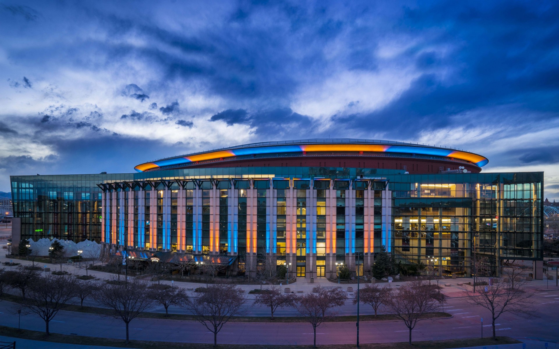 Lumenpulse luminaires were chosen to retrofit the Pepsi Center because of their control flexibility and fluid color-changing capabilities.  – Sam Koerbel