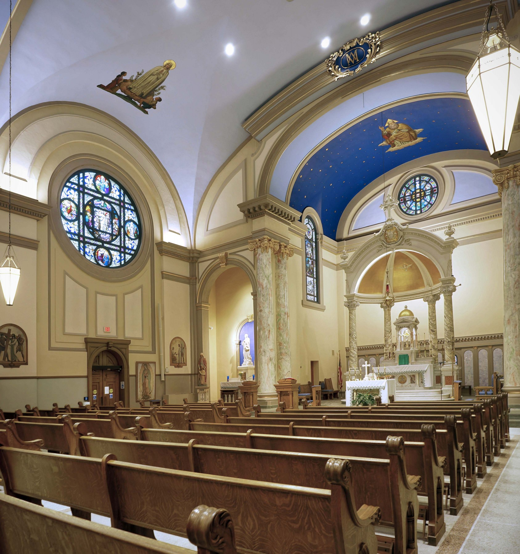 It was time to modernize and repair not only structural elements of the church but also aesthetic elements such as lighting. – Brian Gunning