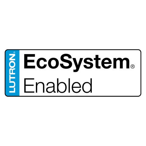 Lutron® EcoSystem® Enabled dimming