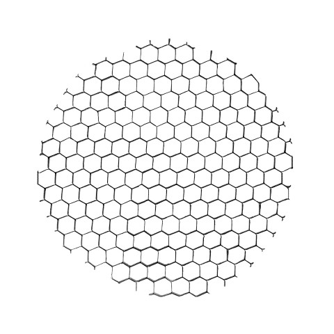 Honeycomb louver