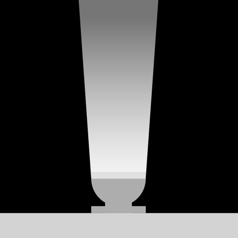 Narrow linear flood (25° x 80°)